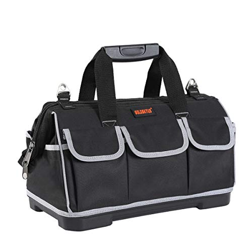 GoldskyUS 20-Inch Wide Mouth Tool Bag with Water Proof Molded Base...