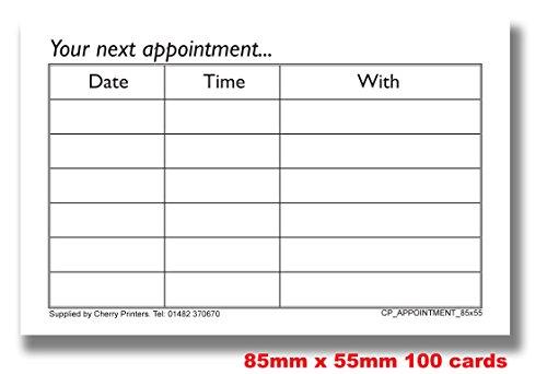 Biglietti per appuntamenti Cherry x 150-350 g/mq, 85 mm x 55 mm in scatola