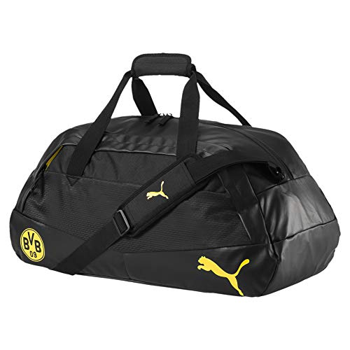 PUMA BVB Performance M Tasche, Cyber Yellow Black, 58x31x4 cm