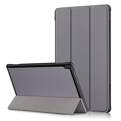 XITODA Hulle Kompatibel mit Lenovo Tab M10 TB X605TB X505PU Leder Tasche mit Stand Funktion Schutzhulle fur Lenovo Tab M10 TB X605FL TB X505FL Case Covergrau