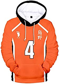 Cosplay Haikyuu Hoodie Sweatshirt volleyball anime haikyuu Figure Uniform Adult Kids Casual Long Sleeve 3D Pullovers Anime...