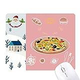 Surtido Italia Tomate Foods Pizza Santa Claus House Mouse Pad Regalo