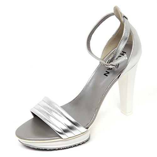 Hogan D0562 Sandalo Donna H247 Scarpa Argento Sandal Shoe Woman [35.5]