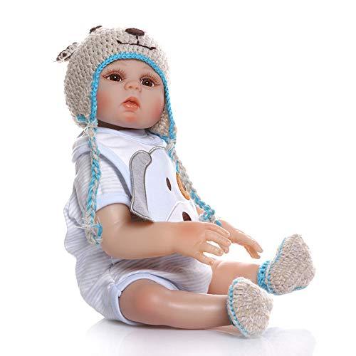 Twin Dolls 47Cm Reborn Doll Baby 19 Pollici Morbido Silicone Vinile Aspetto Realistico Bambole Appena Nate Bambino Playmate Ragazzo Ragazza Bambino,B