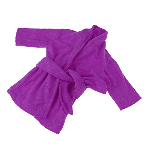 Homyl Mini Puppen Pyjamas Bademantel Morgenmantel Kleidung für 43-45 cm Puppe - Lila