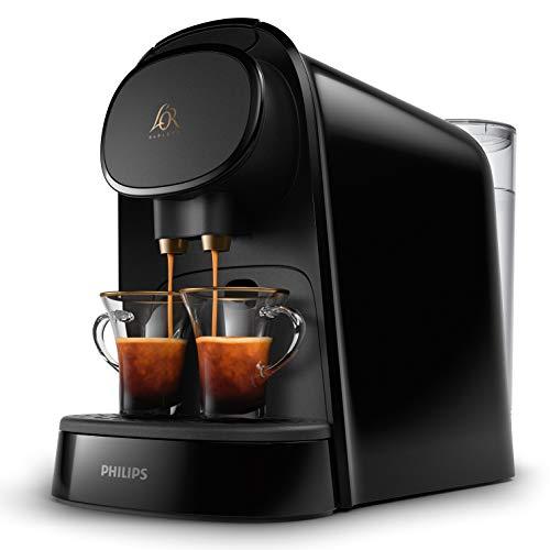 Philips Kaffeekapselmaschine LM8012/60 - Doppelter Shot, doppelter Genuss, 1 oder 2 Tassen, Ristretto, Espresso, Lungo oder Grand Café Long, Doppelkapsel, echte Espresso-Qualität, klavierschwarz