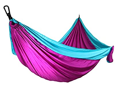 9 FT Hammock -Hammock in A Bag -Beach Hammock -SendCord Hideaway Nylon Hammocks for Outdoors -Parachute Hammock with Upraded Straps -Two Person Hammock for Camping, Backyard, Patio, Balcony