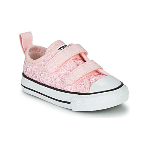 Converse Chuck Taylor All Star 2V Ox Daisy Crochet Rosa/Blanco (Arctic Pink/White) Poliéster 25 EU