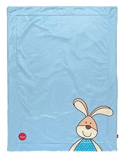 sigikid, Jungen, Kuscheldecke Hase, Semmel Bunny, Blau, 41555
