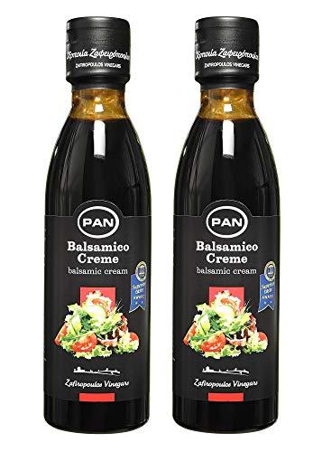 Premium Balsamico Creme | ohne Zucker Zusatz, mit natürlichem Zucker | griechischer fruchtiger Balsamico | 2x 250 ml Flasche
