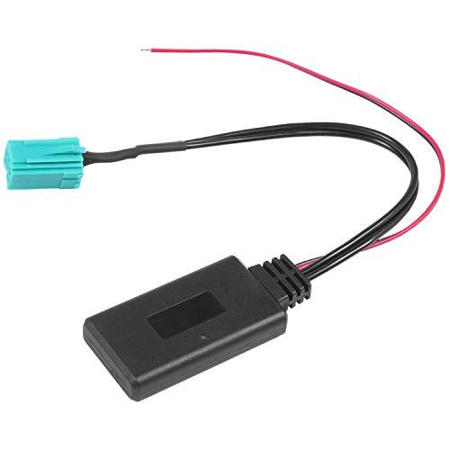 Kaxofang Adaptador Aux. Modulo del Coche Reproductor De Radio Inalambrico Cable De Audio Estereo De Entrada Auxiliar para Cloo Kangoo Megane para Scenic