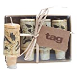 tag Wine Cork Candle Set of 4 Natural