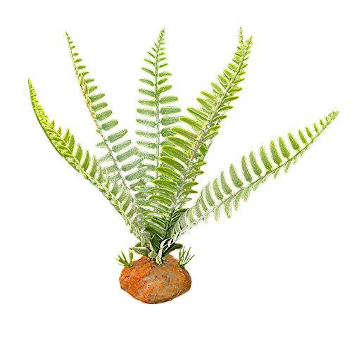 Aquarium Terrariums Landscaping Plastic Planten Schildpad Gras Aquatische Grond Plant voor Visreservoir/Reptiel Box Decor, Kunstmatige Jungle Luifel Plant Geschikt voor Reptiel Habitat 1# Donker Groen