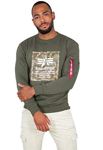 Alpha Industries Camo Block Sweatshirt Oliv L