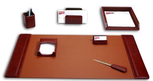 Dacasso Schreibtisch-Set, Mokka, 7-teilig
