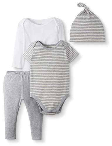 Moon and Back Baby Gift Infant-and-Toddler-Layette-Sets, Grau meliert, 3-6 Monate