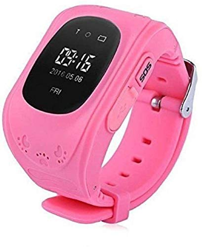 B M C Q50 Kids Smart Watch with Anti Lost GPS Tracker, Baby Watch, Kids SOS Calling Smart Watch Compatible with All Android/iOS Smartphones (Pink)