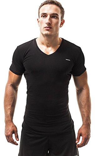 Diesel Herren 3 Pack Shirts Jake (Medium, Schwarz)