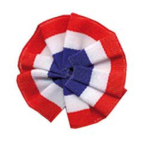 Cocarde Tissu Tricolore 8cm Attache Epingle Nourrice Sans Pans