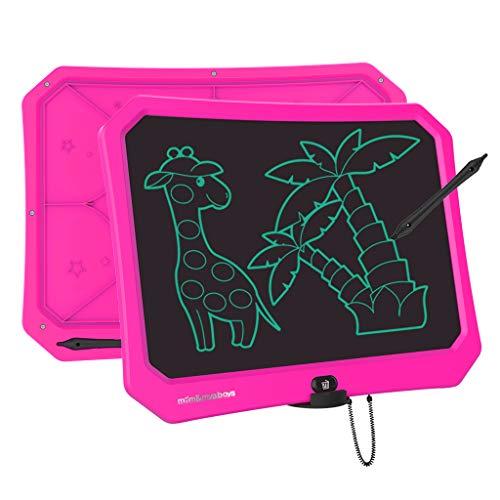JRD&BS WINL Tabletas GrÁFicas LCD Juguetes para Niños y Niñas de 3 a 12 Años,Tablero de Dibujo y Escritura de 17 Pulgadas con BotÓN de Borrado de Bloqueo para el Hogar la Escuela y la Oficina (Rosa)