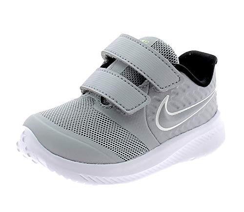 Nike Jungen Unisex Kinder Star Runner 2 (TDV) Running Shoe, Wolf Grey/White-Black-Volt, 27 EU