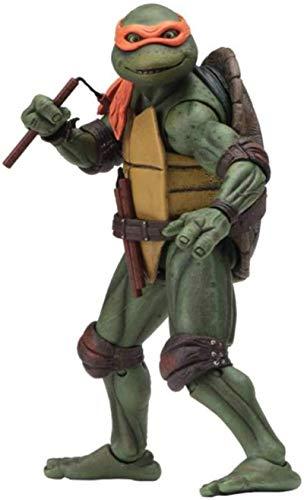 LUSTAR Juguetes de Las Tortugas Ninja (Tortugas Ninja Mutantes Adolescentes 1990) Personaje de Anime de 15 Cm de Altura de Michelangelo, para Niños de 4 Años en Adelante