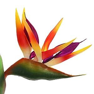 Artificial Flowers,Artificial Heaven Bird Plant,Bird of Paradise Artificial Plant,Faux Flowers Plants Indoor,Fake Flowers Arrangements for Wedding Home Decoration-2pcs,32.2inch