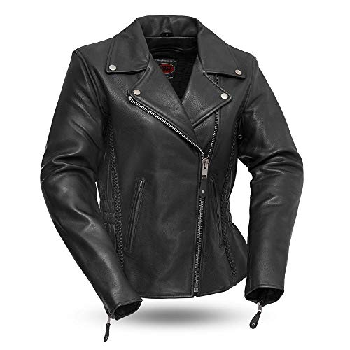 First MFG Co. - Allure - Women's Leather Motorcycle Jacket (Black, XX-Large)
