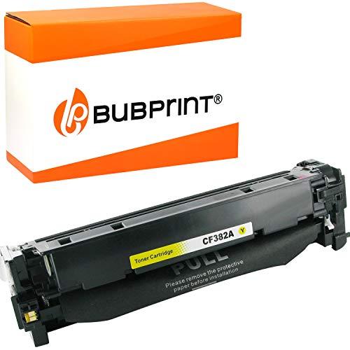 Bubprint Toner kompatibel für HP CF382A 312A für Color LaserJet Pro MFP M476DN M476DW M476NW 2.700 Seiten Gelb/Yellow