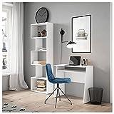 Fabrikit Librería estantería Neón Color Blanco Mate 5 estantes Oficina despacho salón Estilo Moderno 181x60x25 cm