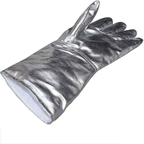 MHYNLMW Feuerbeständige Handschuhe Foil Handschuhe Hohe Temperaturbeständigkeit Brandschutz Melting Five Fingers Foil Strahlenschutz-Handschuhe
