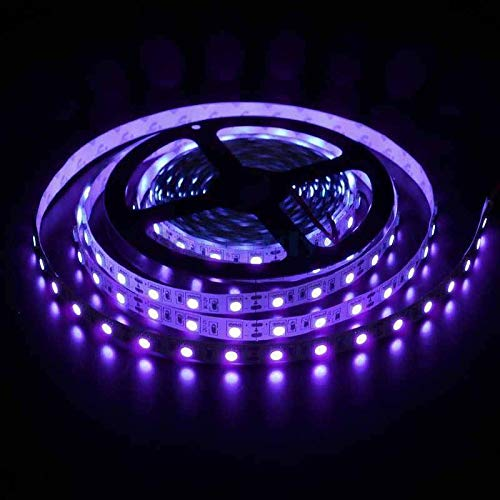 LED Black Light Strip USB Operated 2M/6.6ft 5V 120 SMD5050 LEDs 395nm-405nm Blacklight for Fluorescent, 3D Print Curing, Computer Case, UV Poster, UV Body Paint, Room Décor (Non-Waterproof)