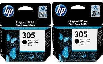 HP Original 305 - Color negro - Paquete de 2 cartuchos