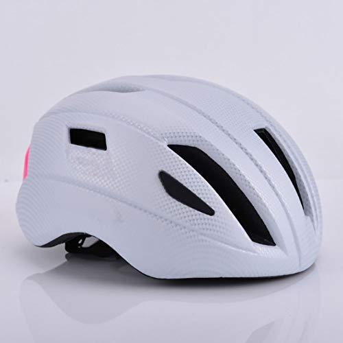Stella Fella Cascos para hombre, casco de bicicleta, bicicleta de montaña, vehículo todoterreno, cabeza de carretera, equipo deportivo (color blanco)