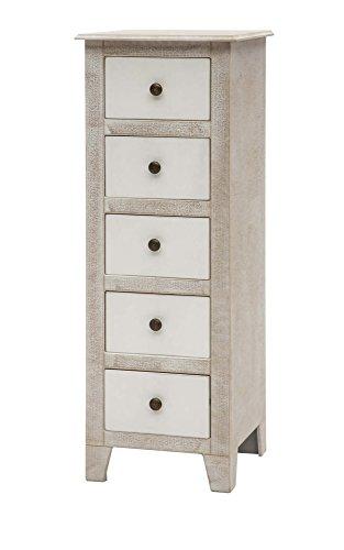 Legno&Design Commode Commode 5 tiroirs Meubles Maison en Bois Shabby Chic