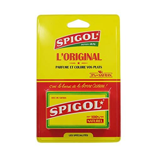 Spigol Épices - 3% de Safran - Parfume et Colore vos Plats - Épices à Paella, Riz, Poisson - 100% Naturel - Pack de 14 Dosettes de 0,4g