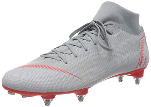 Nike Unisex-Erwachsene Superfly 6 Academy Sg Fitnessschuhe, Mehrfarbig (Wolf Grey/Lt Crimson/Pure Platinum 060), 42 EU