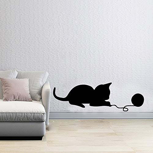 Quszpm Modern cat wall stickers self-adhesive vinyl wall art decals for kids room home decoration for kids room 57cm X 18cm