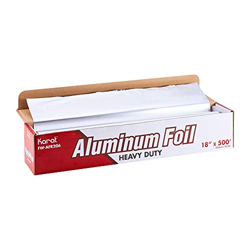 "Karat 18""x 500"" Heavy Duty Aluminum Foil Roll, FW-AFR206"