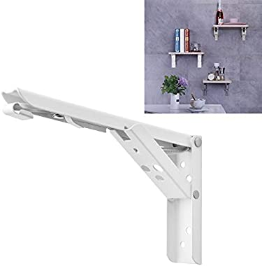 YPshell 10 inch Wall-Mounted Foldable Spring Storage Shelf for Dining Table