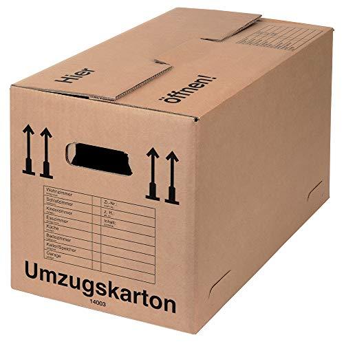 BB-Verpackungen 40 x Umzugskarton Spedition 650 x 350 x 370 mm (extrem stabil 2-wellig, doppelter Boden, Umzugskarton in Speditionsqualität) - Sets zwischen 10 und 150 Stück