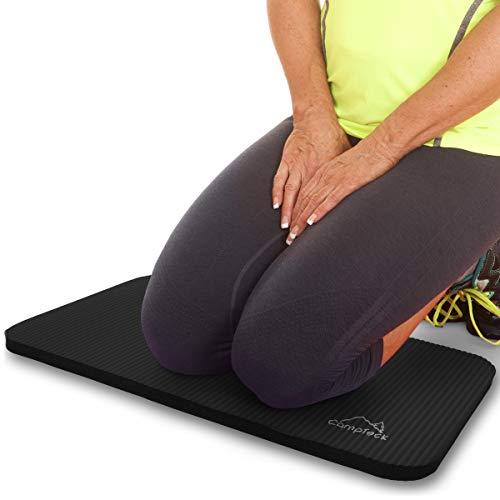 CampTeck U6962 - Yoga Knee Pad Colchoneta Yoga para Rodilla Antideslizante Espuma Suave Almohadilla Yoga para Fitness, Gimnasia, Pilates, etc. - Negro