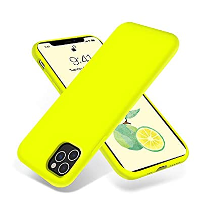 OTOFLY iPhone 11 Pro Case,Ultra Slim Fit iPhone Case Liquid Silicone Gel Cover with Full Body Protection Anti-Scratch Shockproof Case Compatible with iPhone 11 Pro (Fluorescent Yellow)
