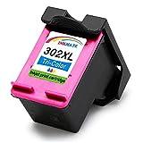 INKMAKE 302 - Cartuchos de Tinta de Repuesto para HP 302 302XL (Compatible con impresoras HP Deskjet 1110 2132 2130 1115 3632 Envy 4527 4520 4523 4524 Officejet 3830 3831 4650 3832 4651 4652)