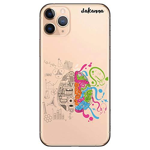 dakanna Funda Compatible con [iPhone 11 Pro MAX] de Silicona Flexible, Dibujo Diseño [Ciencia, Cerebro y Música], Color [Fondo Transparente] Carcasa Case Cover de Gel TPU para Smartphone