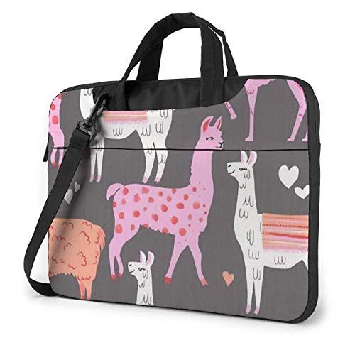 Eaiven Shockproof Laptop Bag Lovely Llama Messenger Bag Slim Tablet Carry Handbag for Business Trip Office