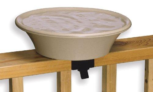 API Heated Deck Mounting Bird Bath Heated Bird Bath