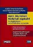 Armi, Munizioni, Materiali esplosivi