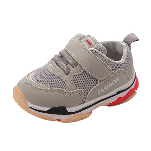 Fineser Baby shoe,Clearance Children Kids Baby Girl Boy Sport Running Shoes Letter Fashion Mesh Shoes Sneakers 5.5-7.5 (Gary, 7 US)