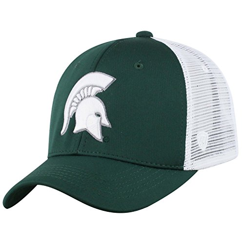 Top of the World NCAA-Ranger Trucker Mesh Adjustable Snapback Hat Cap, Herren, Michigan State Spartans, Weiß, Einheitsgröße
